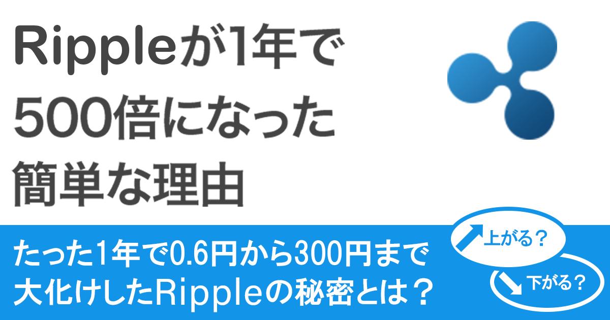 リップルが1年で500倍になった簡単な理由